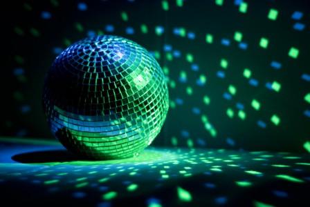 Lichtspiel in einer Disko